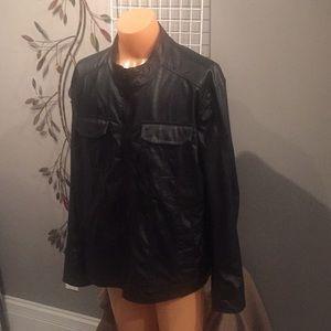 excelled vintage Jackets & Coats - Nice men's black faux leather jacket P1500